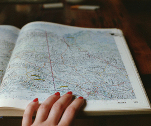 vintage, map, and photography image