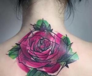 acuarela, rosa, and tatto image