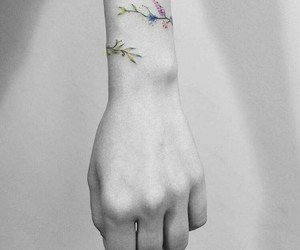 flores, flower, and tattoo image