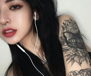 girl, aesthetic, and tattoo image