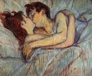 bed, caring, and couple image