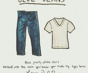 lana del rey, blue jeans, and Lyrics image