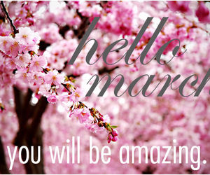 hello, spring, and march image