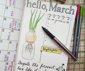 creative, diary, and idea image