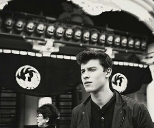 shawn mendes, shawn, and black and white image