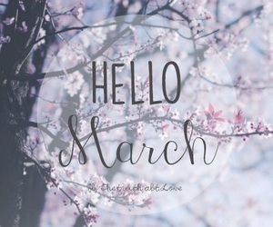 calendar, march, and hello march image