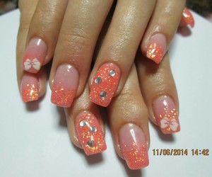 nails, unghii, and orange image