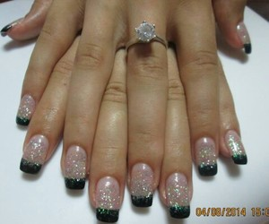 nails, unghii, and sclipici image