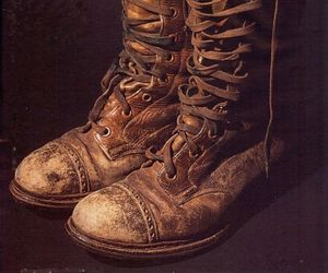 boots, brown, and leather image