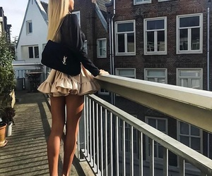 blonde, girl, and heels image