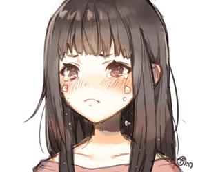 anime, digital art, and cry image