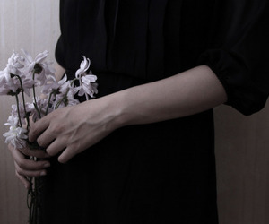 flowers, black, and tumblr image