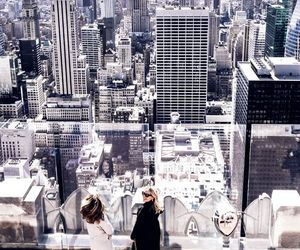 travel, girl, and new york image