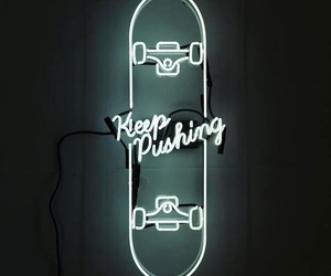 neon, sign, and words image