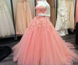 dress, pink, and gown image