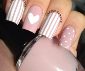 beauty, woman, and white nails image