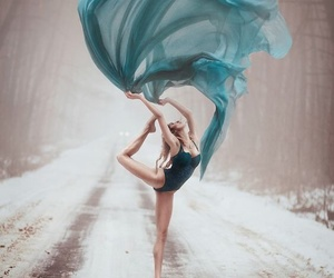 dance, blue, and ballerina image
