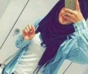 محجبات, رمزيات بنات, and حجاب image