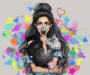art, girly_m, and cat image