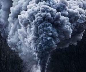 train and smoke image