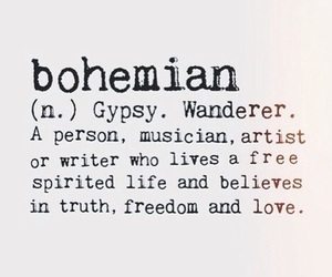bohemian, freedom, and gypsy image