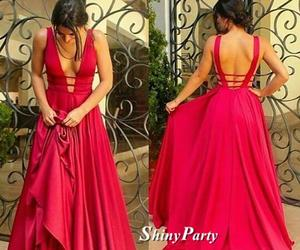 backless, dress, and dresses image
