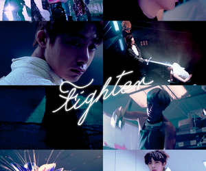 Collage, fighter, and kpop image