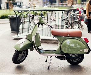 Vespa, green, and italy image