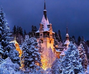 castle, magic, and snow image