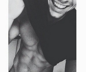 boy, smile, and abs image