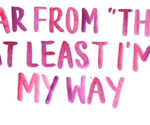 quotes, pink, and way image