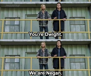 dwight, jeffrey dean morgan, and the walking dead image