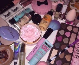 makeup, Brushes, and eyeshadow image