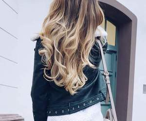 brown, hairstyle, and ombre image