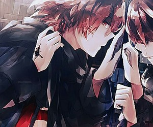 anime, boy, and guilty crown image
