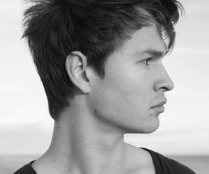 ansel elgort, black and white, and handsome image