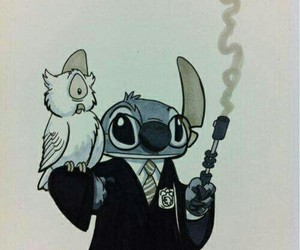 harry potter, magic, and stich image