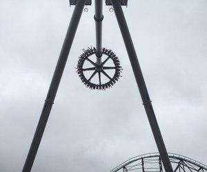amusement park, swing ride, and pennsylvania image
