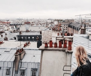 girl, city, and paris image