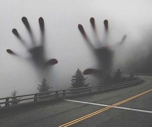 hands, road, and art image