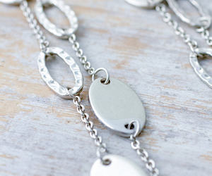 etsy, vintage necklace, and hammered metal image