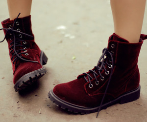 boots, shoes, and red image