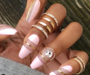 bling, nails, and manicure image