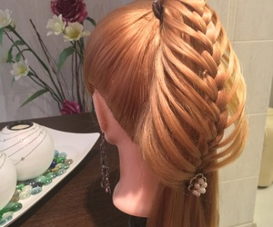 beautiful, braid, and Easy image