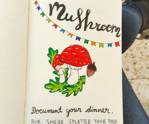 drawings, mushroom, and wreck this journal image