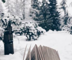 book, read, and snowy image