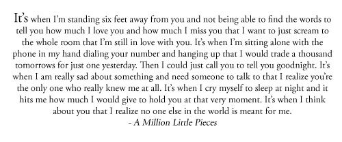 a million little pieces, quote, and auchis image