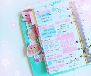 kawaii, organize, and pink image