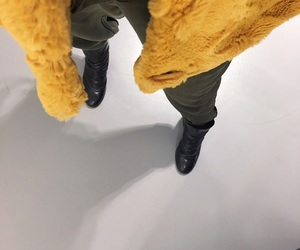 army, clothes, and faux fur image