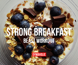 workout, breakfast, and fitness image